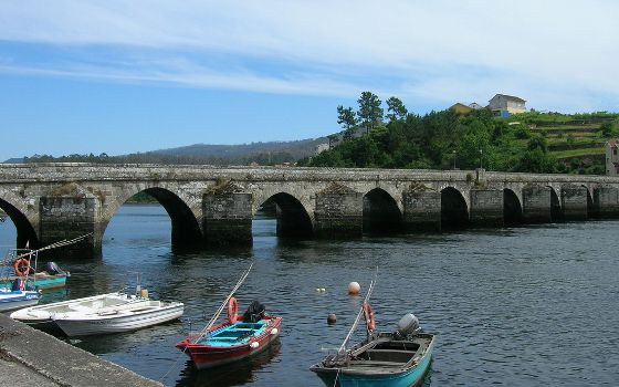 Römerbrücke in der Provinz Pontevedra